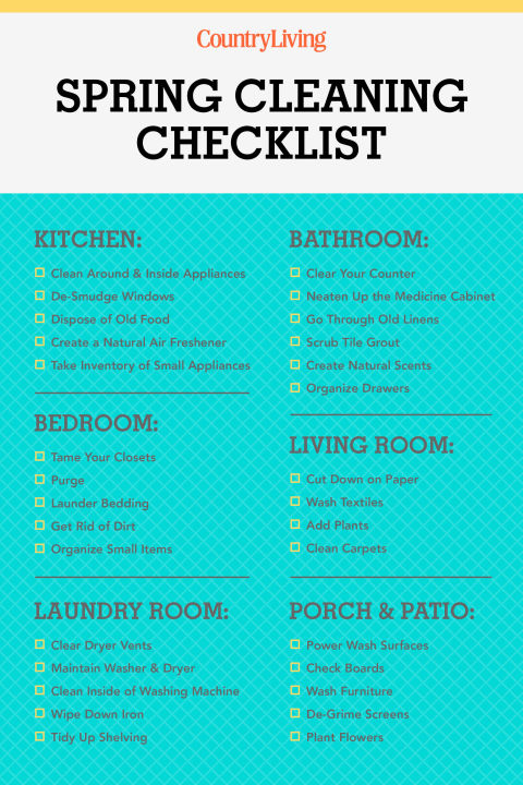 Spring Cleaning Checklist  Wayne Hayes Real Estate  Fort Atkinson